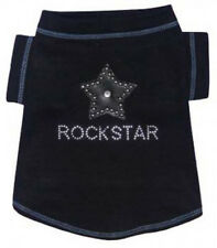 NEW Hip Doggie Rockstar Black studded Dog Tank Shirt - Several sizes