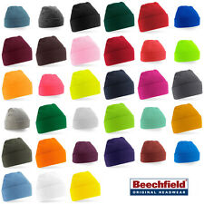Supersoft Beechfield B45 Turn-Up Beanie Hat -35 colours- 100% Acrylic, One size