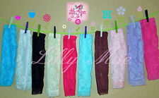 Boutique Lace Leggings Baby Girls NWT 3 6 9 12 18 24 3T 4T 5T Flower Many Colors