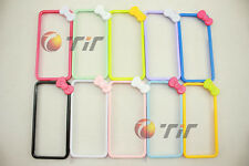 New cute Butterfly Bow Bowknot Hard Bumper Frame cover case for iPhone 5 5G