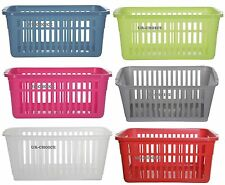 10 X  PLASTIC SMALL 25 CM HANDY BASKET STORAGE SET OF TEN