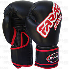Boxing gloves Synthetic sparring gloves punch bag training mitts Black
