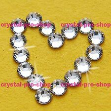 Crystal Clear Iron On Flatback Hotfix Rhinestone Glass Craft Bling Diam​ante Gem