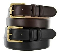 "Arthur Genuine Italian Calfskin Leather Designer Dress Belt 1-1/8"" Wide"