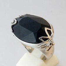 Sale! Swatch Bijoux Pure Night Ring Stainless Steel Onyx Size 6 7 8 9 Nice Gift