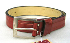 Brown Leather Patterned Belt By HM (N31)