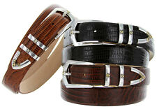 "St.Marks - Italian Calfskin Genuine Leather Designer Dress Belts,1-1/8"" Wide"