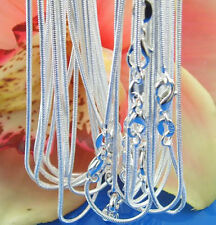 """Hot Sale 10pcs Silver 1.2mm Snake Chain Necklace Fit Charms Beads 16""""-28"""" gh1058"""