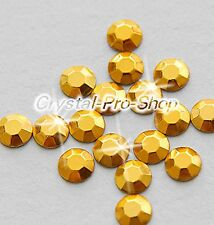 Gold Iron On Faceted Hot Fix Rhinestud Aluminium Craft studs DIY 2mm 3mm 4mm 5mm