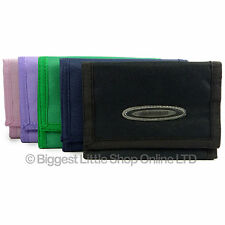 Unisex Velcro Sports Wallet Canvas TriFold Change Section by OBSESSED 5 Colours