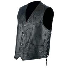 Hog Leather Biker, Motorcycle Vest, w/Side Laces NEW!