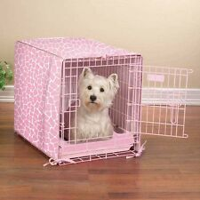 Pink ProSelect Sweet Safari 2-Piece Dog Crate Cover Crateware Bed Set 3 Sizes