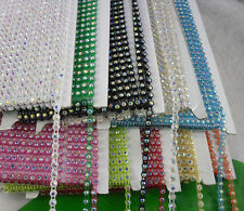 SS12 3mm A Grade crystal AB Rhinestone banding Trim Black/White Setting 10 Yards