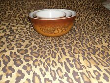 YOUR CHOICE: VINTAGE PYREX REPLACEMENT NESTING/MIXING BOWLS. BROWN, HARVEST