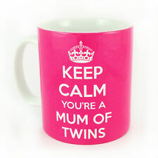 KEEP CALM YOU'RE A MUM OF TWINS GIFT MUG CUP CARRY ON IDEA PREGNANCY SCAN BIRTH