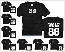 EXO MEMBER KOREAN-NAME XOXO FIRST YEAR KRIS KAI LAY SEHUN LUHAN T-SHIRT KPOP NEW