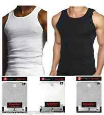 3 Quality 100% Cotton Mens A-Shirts Wife Beaters Ribbed Tank Top Undershirt Vest