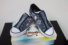 NEW Kids ED HARDY New Orleans Sequins Shoes Ed Hardy Shoes Purple/Blue 1 2 3