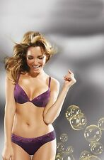 WONDERBRA GEL BRA - FASHION GEL PUSH UP BRA - 9438 - PURPLE/BLACK NEW
