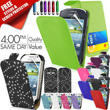 NEW LEATHER FLIP CASE COVER FITS SAMSUNG GALAXY FAME S6810 FREE SCREEN PROTECTOR