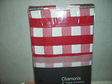 KITCHEN READY MADE CURTAINS GINGHAM SETS PELMET & T/B