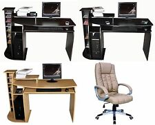 NEW COMPUTER DESK w/Keyboard Shelf+OFFICE CHAIR,SEAT Home/Business Furniture #15