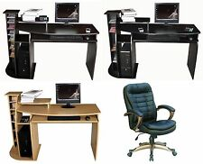 NEW COMPUTER DESK w/Keyboard Shelf+OFFICE CHAIR,SEAT Home/Business Furniture #17