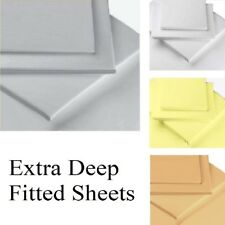 "200 Thread Count Percale Extra Deep 16"" Box Depth Fitted Sheets"