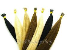"""25 Stick I Glue Tip Pre Bonded Shoelace Micro Ring Remy Human Hair Extension 22"""""""