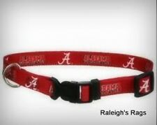 NEW NCAA Alabama Crimson Tide Dog Pet Cat Collar - Med or Large Available
