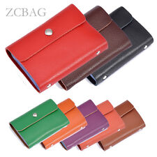 1pc 20 Slots Genuine Leather Business Credit ID Card Case Holder Wallet Clutch