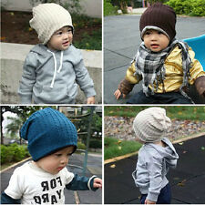 Fashion Cute boy girl Trendy Baby Toddler child Hat Knit Beanie Warm Winter cap