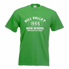 Hill Valley T Shirt - Funny t-shirt back retro 1955 future time travel school US