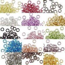 100 ROUND 4MM COLORED ALUMINUM JUMPRINGS 20 GAUGE OPEN JUMP RINGS