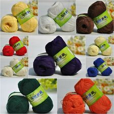 Wholesale!Soft Smooth Natural Silk Flax Fiber crocheting/Baby yarn;Cool!17 color