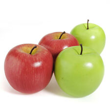 1/2/5/10PCS Artificial Red Green Apple Plastic Fruit Home Party Decor