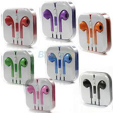 Hot! Volume Remote Earphone Stereo EarPods + Mic For iPhone 5 5G 4 4S Nano7 BA1U