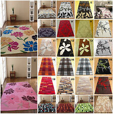 SMALL MEDIUM LARGE X LARGE 1-2 CM THICK ACRYLIC MODERN MULTI COLOUR CARPET RUGS