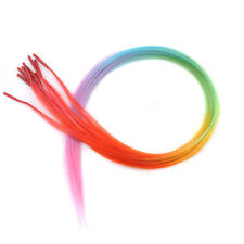 Wholesale Lot Woman's Rainbow Synthetic Grizzly Feather Hair Extensions KAP12