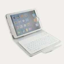 Bluetooth Wireless Keyboard Leather Folio Cover Case stand for i Pad MINI
