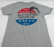 Mens NEW MAD Magazine Gray Short Sleeve Graphic Logo T-Shirt Size S L XL