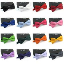 15 Colors New Polyester Solid Color Gentleman Men's Party Best Discount Bow Tie