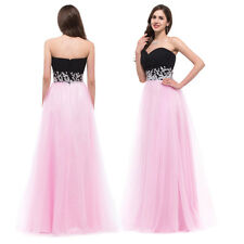 Sweet Sequins Beaded Corset Evening Formal Ball gown Party Prom Dresses Long