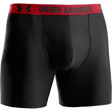 "Under Armour Mesh 6"" Boxerjock Mens Boxer Briefs Black [1230364-001]"
