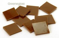 Brown Opal Fusible 96 coe Mosaic Glass Tile * Cut to Order Shapes * Half Package