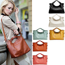Women Lady Girl Genuine Leather Tote Shoulder Messenger Handbag Hobo Shopper Bag