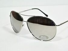 Oversized Aviator Gold nd Silver Frames Silver Mirror Lens XXL Mirrored Sunglass