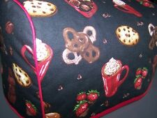 Chocolate Lovers Delight Quilted Fabric 2-Slice or 4-Slice Toaster Cover NEW