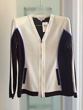 Exclusively Misook ~ Color Block Acrylic Jacket Size M, L, XL  Retail $378 NWT
