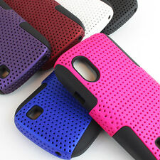 For ZTE T-Mobile Concord V768 Colorful Black APEX Hybrid Gel Hard Case Cover